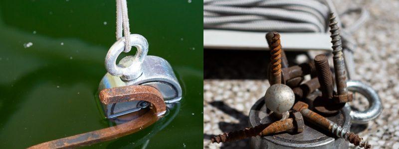 Oboustranný magnet na magnet fishing F-500